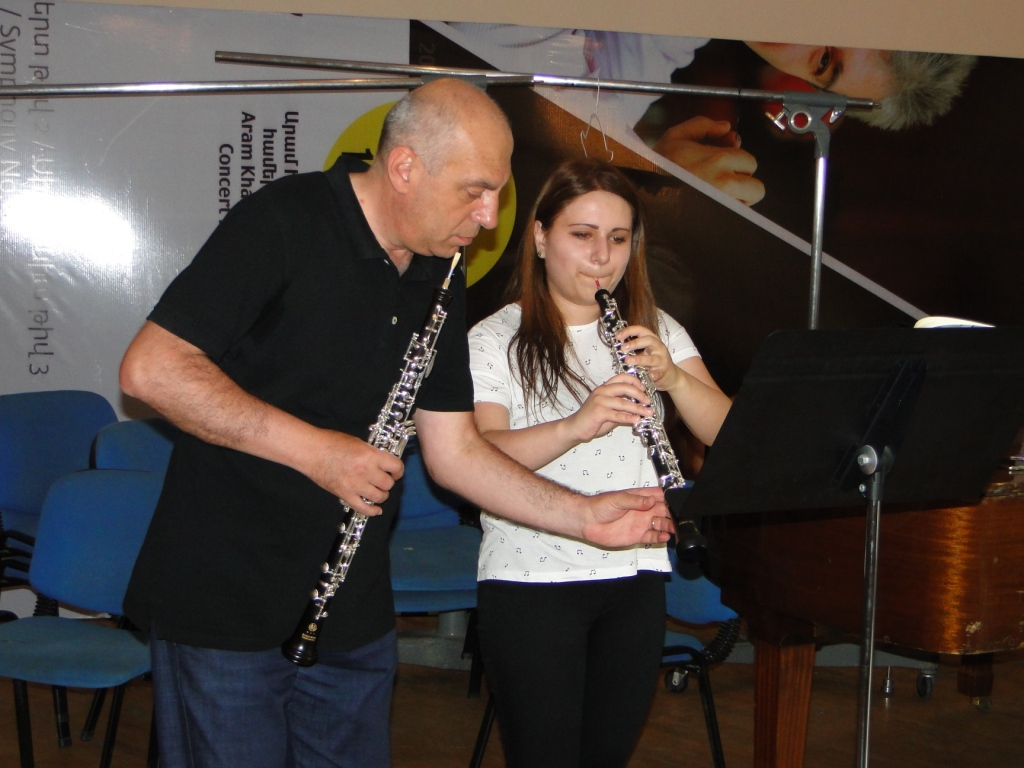 Ashot Galstyan and Julia Babayan